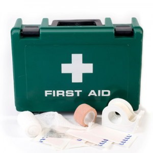 A readily available first aid kit can save lives